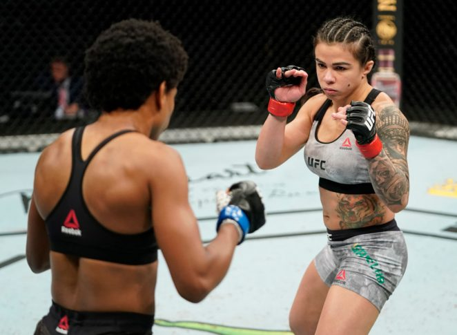 UFCファイトナイト・フロリダ:クラウディア・ガデーリャ vs. アンジェラ・ヒル【アメリカ・フロリダ州ジャクソンビル/2020年5月16日(Photo by Cooper Neill/Zuffa LLC via Getty Images)】