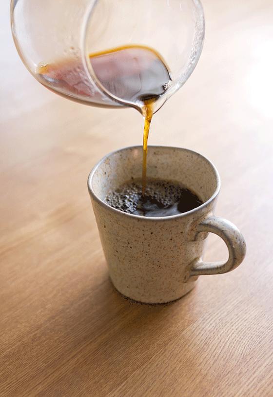 緑茶とコーヒーのハーモニー?