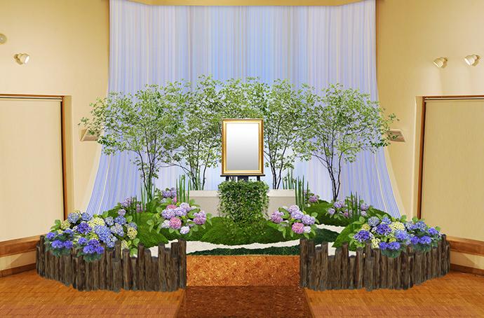 季節の花祭壇 6月