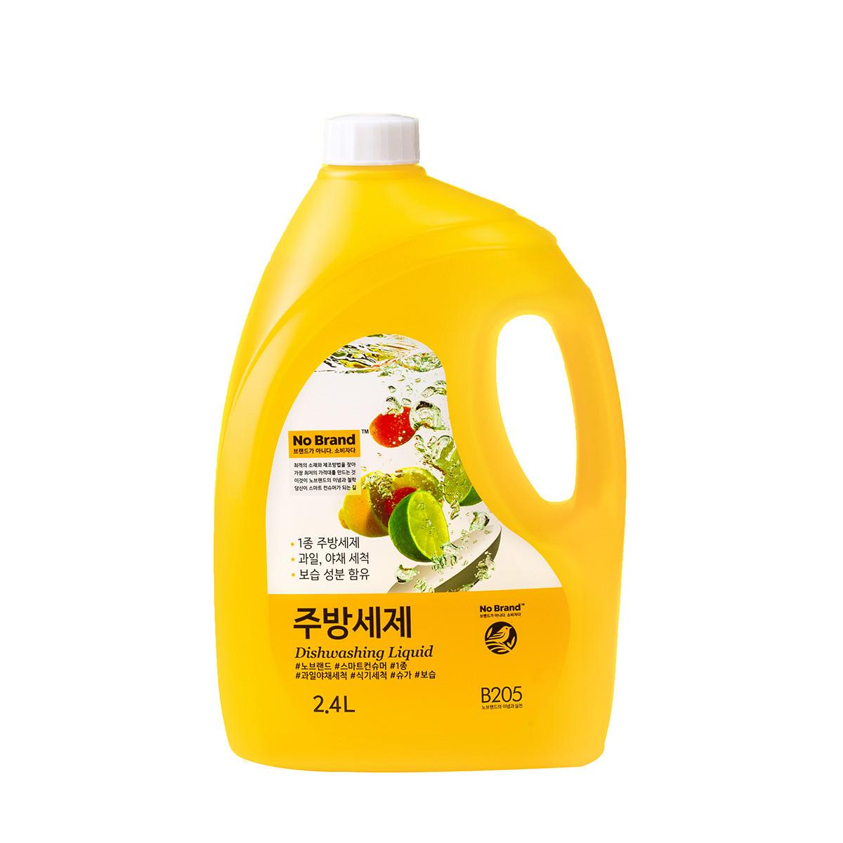 韓國No brand洗碗精(2.4公升/瓶)