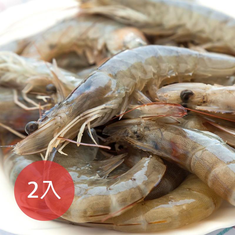 [凍凍鮮] 南美洲大尺寸白蝦 2入組 (850g/盒)