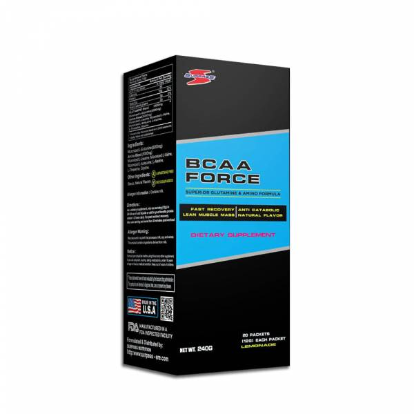 [美國 SURPASS] 支鏈胺基酸BCAA FORCE 檸檬口味(30包/盒)