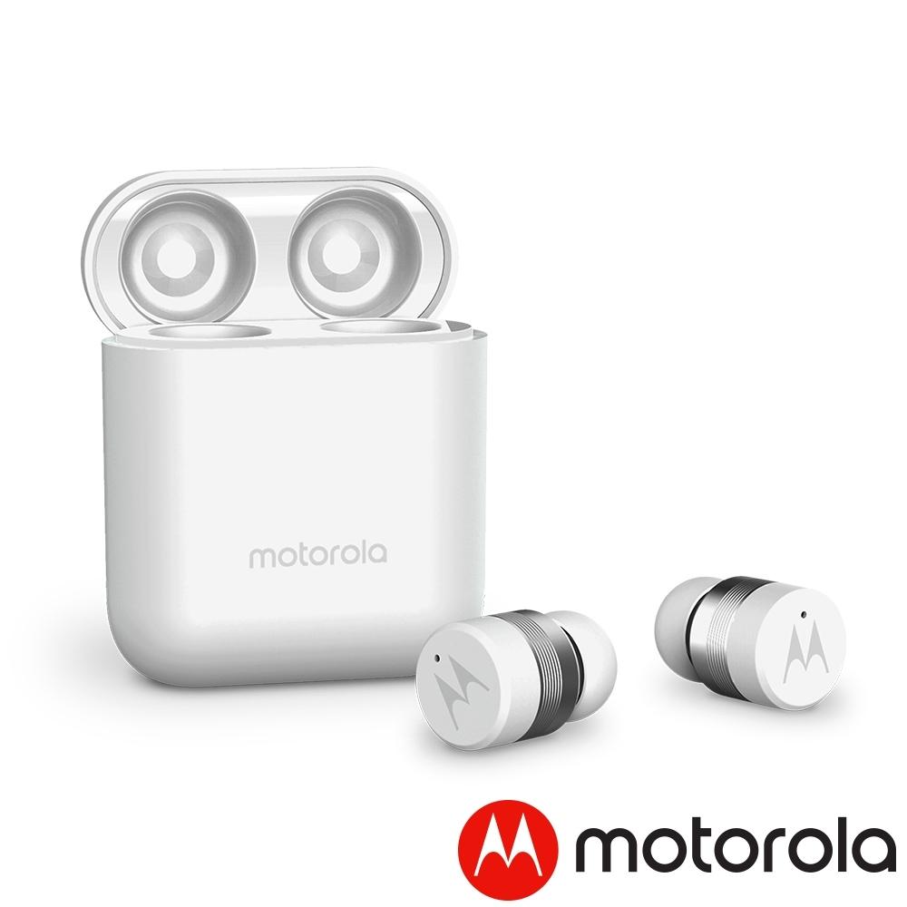 [美國 Motorola] 輕便型真無線藍牙耳機 Verve Buds 110 珍珠白