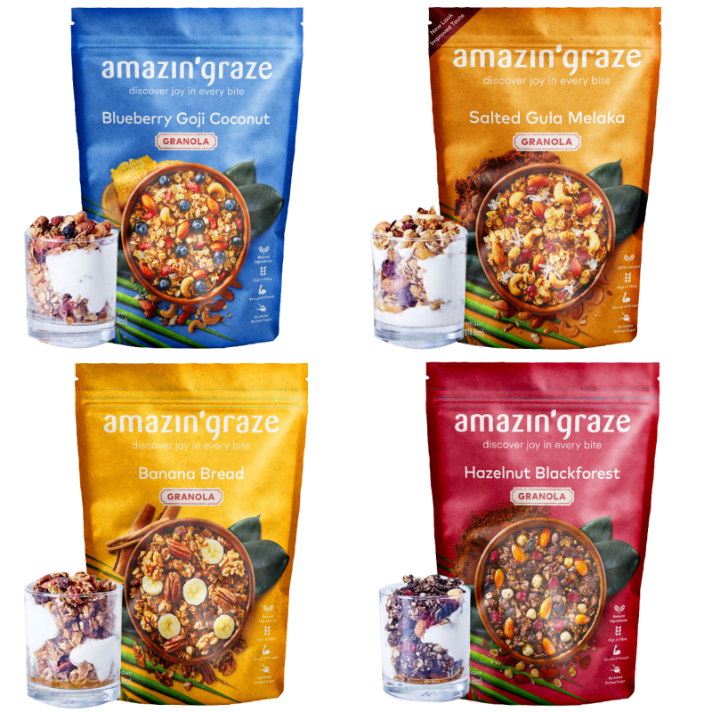[AMAZIN' GRAZE] 堅果穀物燕麥脆片250g