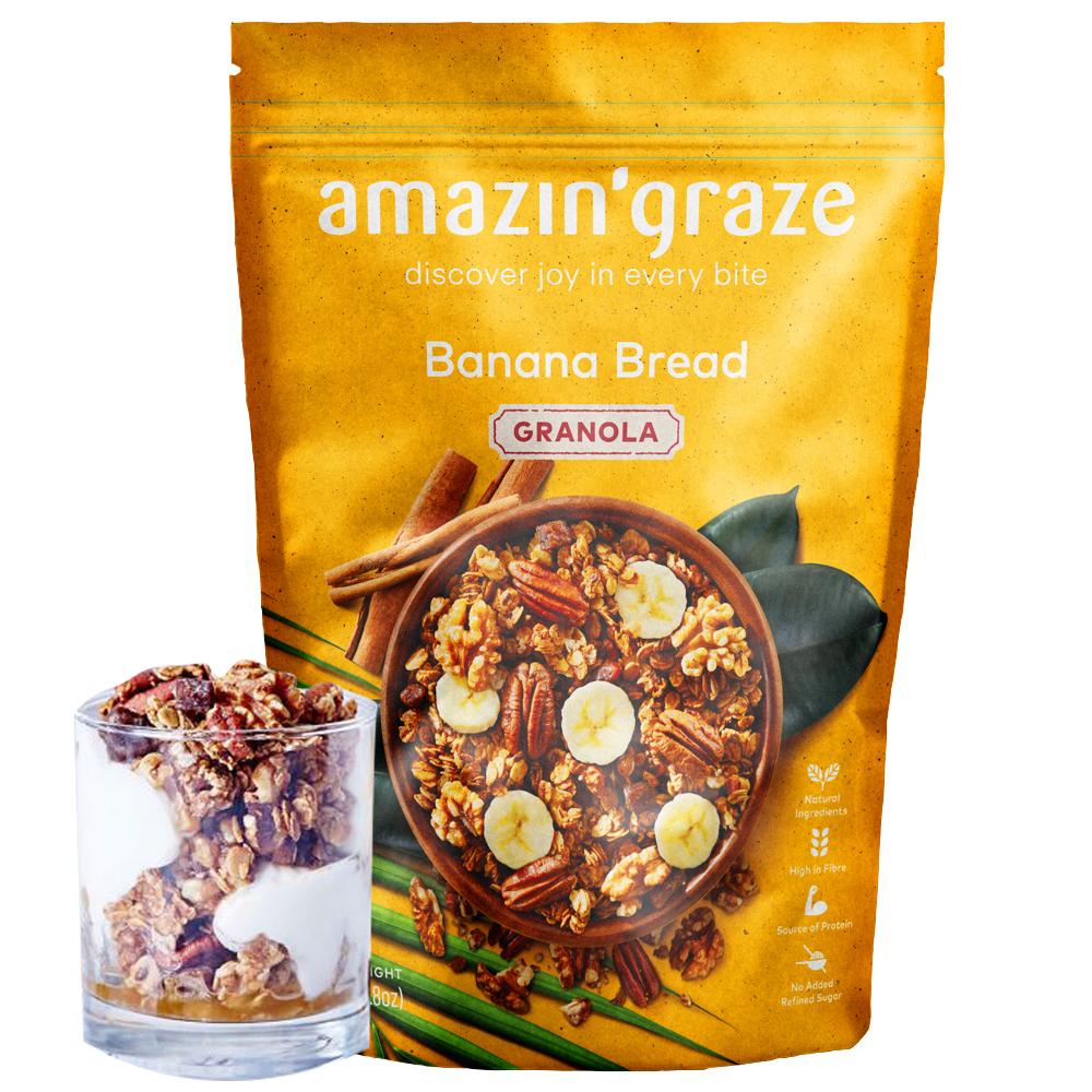 [AMAZIN' GRAZE] 堅果穀物燕麥脆片250g (香蕉蜂蜜口味)