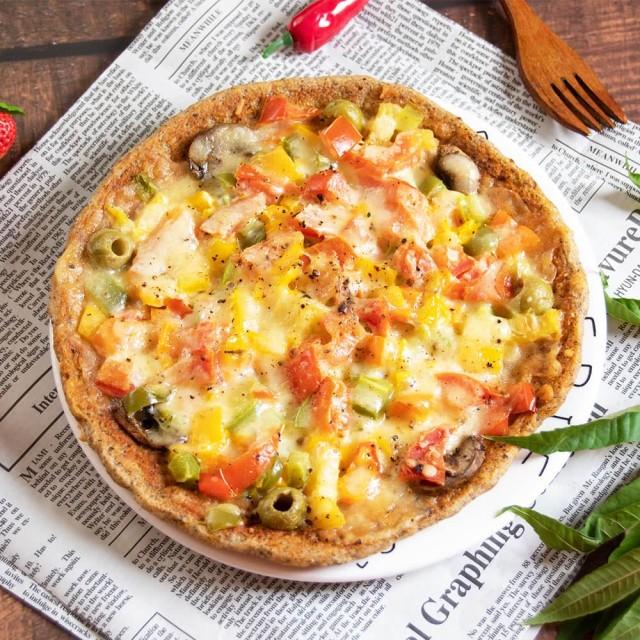 [i3微澱粉] 田園三色高蛋白鮮蔬披薩 (300g/入) (奶素) 1入