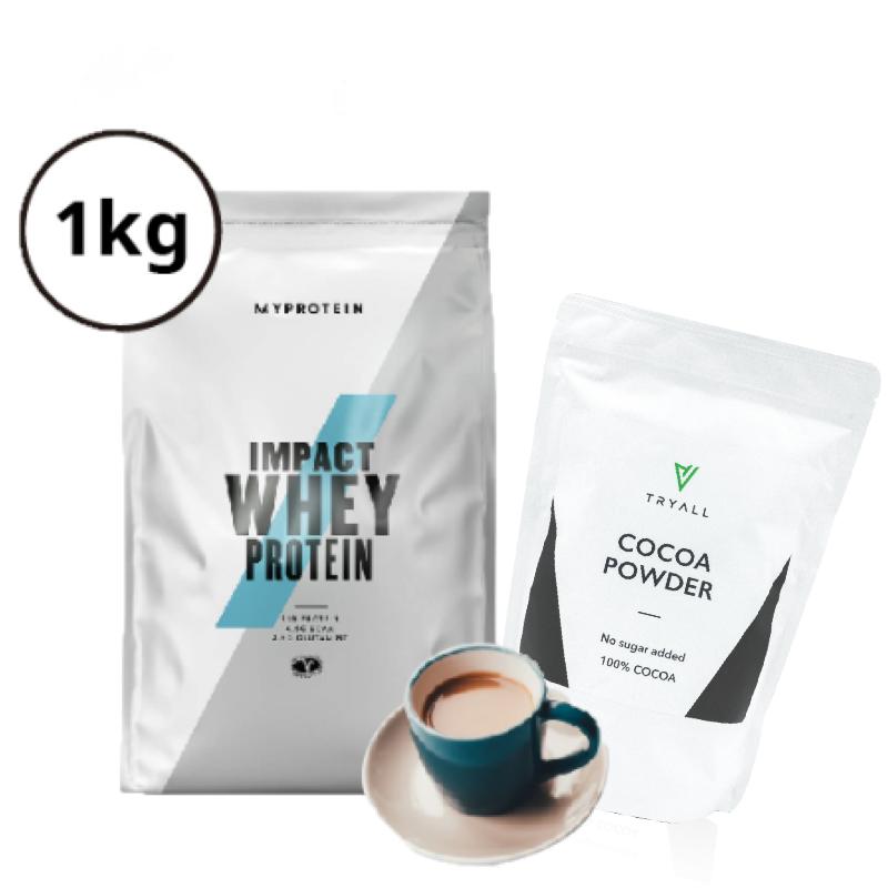 [可可奶茶組] Myprotein濃縮乳清蛋白-奶茶 (1kg/袋) + Tryall可可粉 (600g/袋)