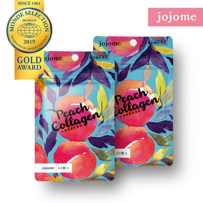 [jojome] 水蜜桃膠原蛋白錠 (60顆/袋) 2入