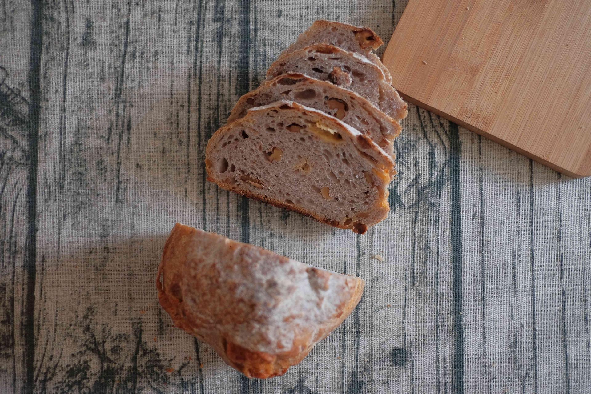 [麥來] 無糖無油麵包組 重味切達核桃大酸種 (450g*3入)