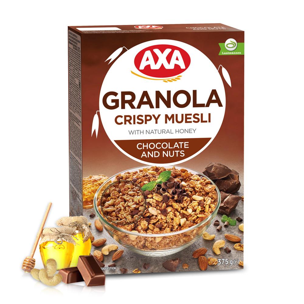 [瑞典 AXA] 巧克力堅果穀物麥片 (375g/盒)