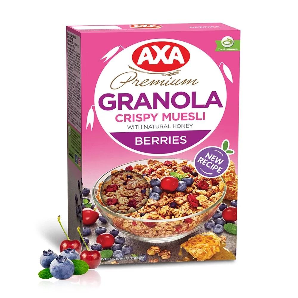 [即期品] [瑞典 AXA] 綜合莓果穀物麥片 (270g/包) (奶素) {效期: 2021-07-06}