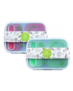 [NISORO] 伸縮餐盒 (紅/綠兩色)