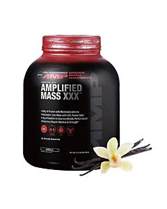 [GNC] AMP麥斯飲品(高熱量乳清) -香草(6磅/罐)
