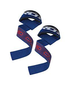 [英國 RDX] 防滑材質⾼質感助⼒帶-藍(重訓/舉重/硬舉適用)