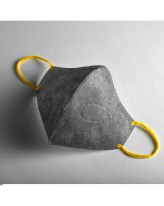 [:dc® 克微粒] 奈米薄膜可水洗立體口罩 (成人-灰色黃耳戴)6片/盒