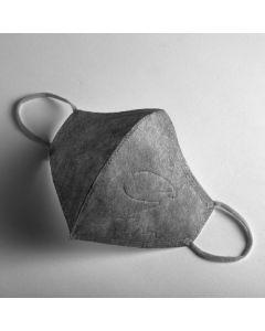 [:dc® 克微粒] 奈米薄膜可水洗立體口罩 (成人-灰色灰耳戴)6片/盒