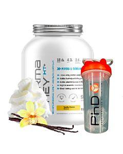 [優惠組合][英國 PhD Nutrition] 乳清蛋白粉-香草奶油(2.25Kg/罐)+搖搖杯