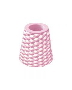 [日本製trico] 菱格珪藻土牙刷架2入(粉紅色)
