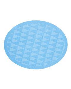 [日本製trico] 橢圓菱格瞬吸珪藻土地墊(藍色)