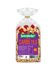 [德國Seitenbacher] 32%蛋白質綜合穀物麥片-覆盆莓口味(500g)