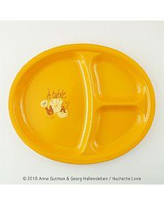 [Gaspard et Lisa 麗莎和卡斯柏] 分隔午餐盤-甜橙橘