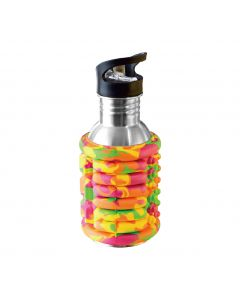 [52s]滾筒按摩水瓶(附贈D型吊勾)-糖果迷彩(500ml)