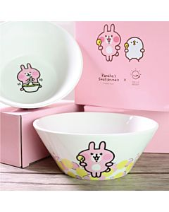 [Daily Boost日卜力X卡娜赫拉的小動物] 粉紅兔兔麥片碗 (480ml)