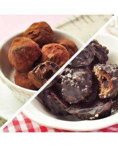 [查克派] 蛋白質巧克力球 - 經典榛果巧克力球+松露莓果巧克力球 (2包/組)