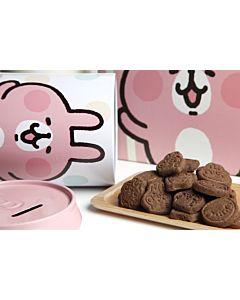 [AMANDIER] 卡娜赫拉的小動物-粉紅兔兔巧克力餅乾鐵罐 (100g/罐)