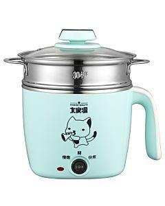 [大家源] 1.5L 304不鏽鋼蒸煮燉美食鍋 (Tiffany綠) TCY-2743B