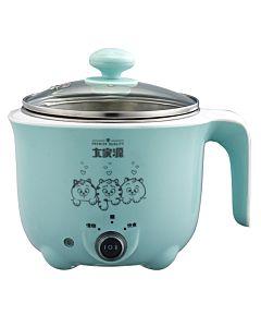 [大家源]  1.0L 304不鏽鋼雙層防燙蒸煮兩用美食鍋 (湖⽔藍) TCY-2727B