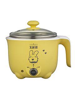 [大家源]  1.0L 304不鏽鋼雙層防燙蒸煮兩用美食鍋 (活力黃) TCY-2727Y