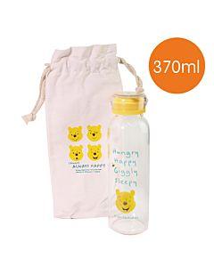[Disney] 微笑維尼耐熱玻璃瓶袋組 (370ml)
