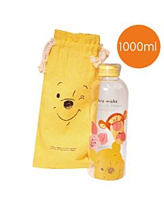 [Disney] 微笑維尼好朋友玻璃瓶袋組 (1000ml)