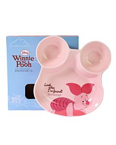 [Disney] 歡樂維尼陶瓷分隔盤-小豬