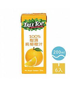 [TreeTop樹頂]  100%純柳橙汁 (200ml/罐x6罐/組)