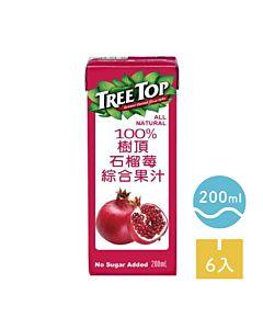 [TreeTop樹頂]  100%石榴莓綜合果汁 (200ml/罐x6罐/組)