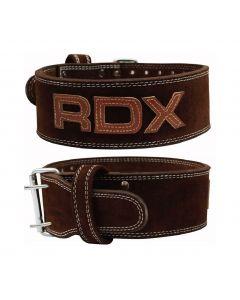 [英國RDX] 10mm全真牛皮健身腰帶(重訓/舉重適用)-咖