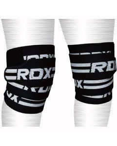 [RDX] 重訓舉重運動護膝帶-黑白