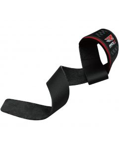 [RDX] 健身重訓皮革拉力帶-黑紅