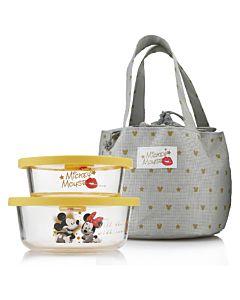 [Disney] 米奇米妮 Super Star 保鮮盒提袋組 (350ml+550ml)