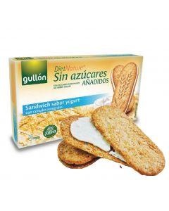 [西班牙穀優 gullon] 無加糖優格夾心早餐穀物餅 (2片*5包/盒)