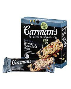 [澳洲 Carman's]  黑巧克力藍莓燕麥棒 (5條/盒) {賞味期限: 2018-11-04}