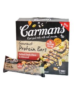 [澳洲 Carman's] 焦鹽黑可可蛋白棒 (200g/盒)