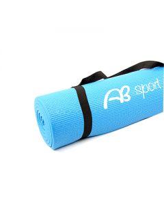 [ABsport] 8mm 加厚瑜珈健身墊-天藍(附贈收納網袋)