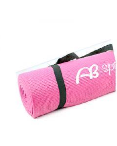 [ABsport] 8mm 加厚瑜珈健身墊-粉(附贈收納網袋)