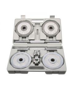 [ABsport] 電鍍20kg啞鈴組(贈收納盒)