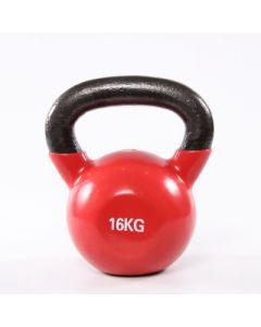 [ABsport] 包膠壺鈴16kg-紅