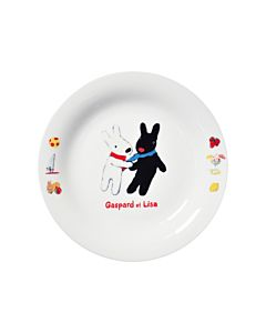 [Gaspard et Lisa 麗莎和卡斯柏] 點心盤 (相識/日本製)