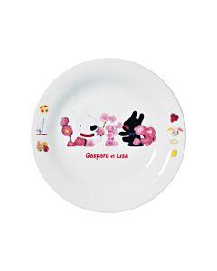 [Gaspard et Lisa 麗莎和卡斯柏] 點心盤 (花朵/日本製)